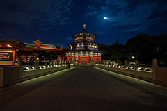 EPCOT Center - The Long Walk to the Temple of Heaven (Cory Disbrow) Tags: china longexposure travel vacation photoshop canon orlando epcot lab florida magic disney nighttime walkway fl wdw waltdisneyworld templeofheaven magical 2009 epcotcenter canonef1740mmf4lusm waltdisney cs4 worldshowcase lakebuenavista baylake reedycreek waltdisneyworldresort emh sevenseaslagoon extramagichours disneyafterdark canoneos5dmarkii reflectionsofchina worlddrive corydisbrow