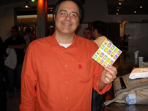 Webdeux.connect 2009 - J'ai eu mes timbres Simpsons !