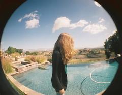 (fivefortyfive) Tags: film pool clouds 35mm hair lomo fisheye santaynez carlyn fivefortyfive anniegotmethiscameraformybirthday itsafunlittlegreencamera thatsongiswhymusicisconsideredartihighlyrecommendyoulistentoit maggieannre