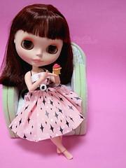 Think pink (:Claudia:S:) Tags: pink ut october doll rosa cupcake blythe boneca breastcancerawarenessmonth thinkpink momolita outubrorosa cloud9bowldress mêsdecombateaocâncerdemama
