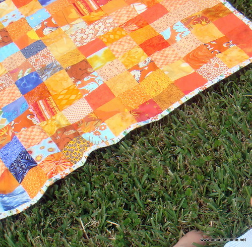 Allie's UF quilt detail