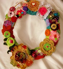 Grinalda (Guirlanda) - wreath (Oh!.. So cute!) Tags: cores colours crochet felt wreath guirlanda feltro outono grinalda efeitovalquria