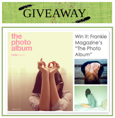 Frankie Photo Album Giveaway
