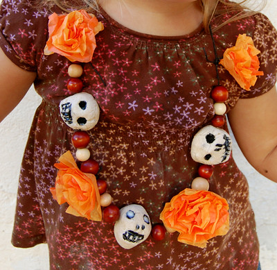 Celebrate Day of the Dead with a festive homemade necklace!