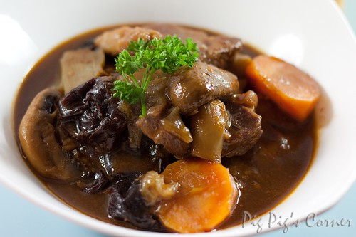 Guinnes beef stew with prunes