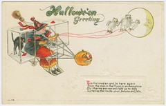 Hallowe-'en greeting. (New York Public Library) Tags: halloween aircraft pumpkins newyorkpubliclibrary postcards witches gliders owls playingcards xmlns:dc=httppurlorgdcelements11 dc:coverage=1914 dc:identifier=httpdigitalgallerynyplorgnypldigitalid1587794