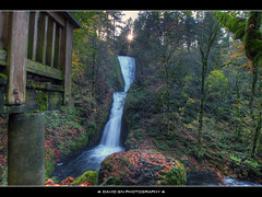 Bridal Veil Falls (David Gn Photography) Tags: autumn sun fall oregon forest portland landscape waterfall rocks scenic pdx overlook columbiagorge bridalveilfalls hdr multnomah starburst bej historiccolumbiahighway sigma1020mmf35exdchsm canonrebeleost1i