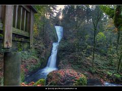 Bridal Veil Falls (David Gn Photography) Tags: autumn sun fall oregon forest portland landscape waterfall rocks scenic pdx overlook columbiagorge bridalveilfalls hdr multnomah starburst bej historiccolumbiahighway sigma1020mmf35exdchsm canonrebeleost1i