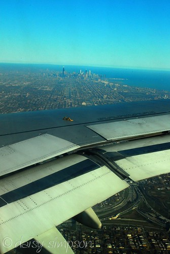 skyline view from plane