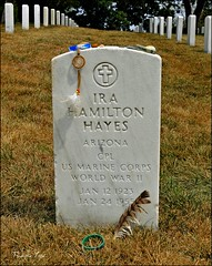 Ira Hayes, Arlington National Cemetery (Native-American Hero) (Tony Fischer Photography) Tags: arizona usa cemetery grave dead virginia us war unitedstates respect glory military wwii honor graves pima nativeamerican arlingtonnationalcemetery tribe veteran iwojima semperfi vererans irahayes balladofirahayes