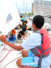 Reefing during the Summer Youth Program in Charlestown