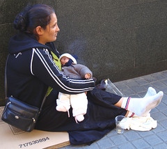 Begging with her baby (chrisk8800) Tags: poverty barcelona street city people urban woman baby female calle mujer women jung babies arm strasse sony femme poor young streetphotography ciudad menschen personas beggar stadt bebe females pobre frau rue babys personnes ville mendiga barcelone junge jovenes joven mendigo beggars pauvre pobreza bebes jeunes jeune mendiant armut mendigos bettler pauvrete junges mendiante mendiants
