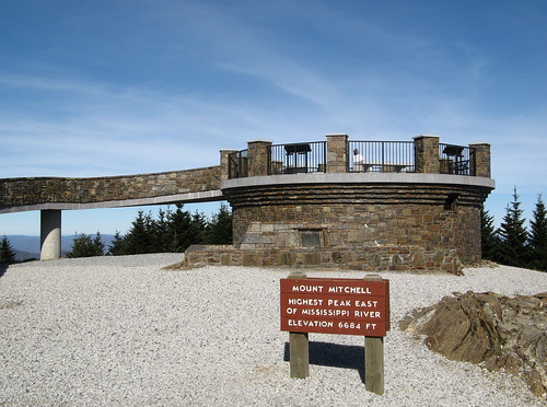 Viewing platform atop Mount Mitchell