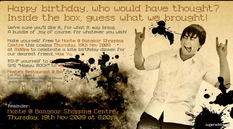 Hamyu's Birthday Invitation Card
