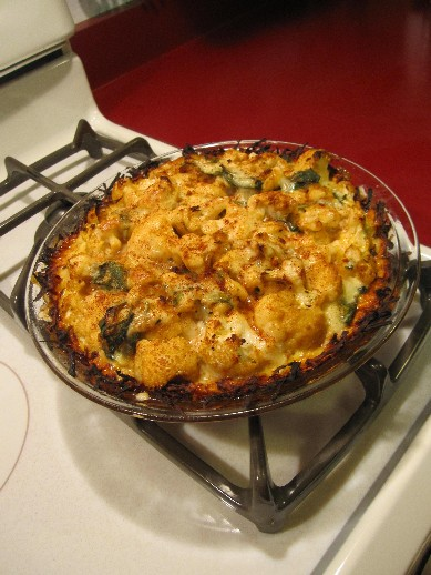 Baked Cauliflower Pie