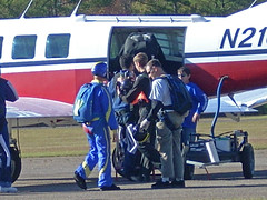 Tandem skydiving at the Raeford Parachute Center
