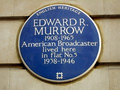 Photo of Edward R. Murrow blue plaque