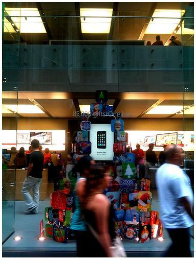 Apple Store iPhone Christmas Tree