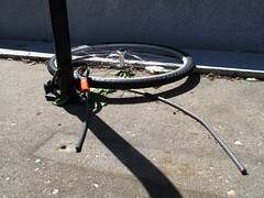 Cut Wire on Bike Rack