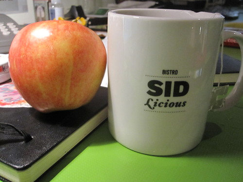 Apple and tea from the bistro - free