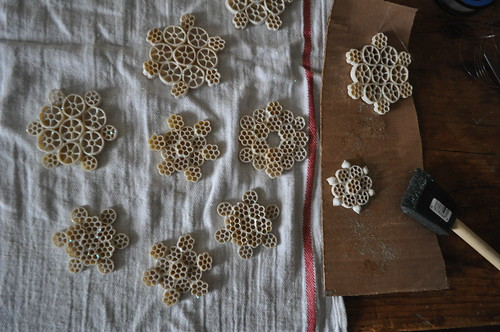 4171410849 98227b5297 Working On Macaroni Snowflakes