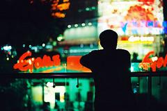 Someone (a l e x . k) Tags: guangzhou street plaza film night pentax victory 廣州 tianhe supera m5014 维多利广场
