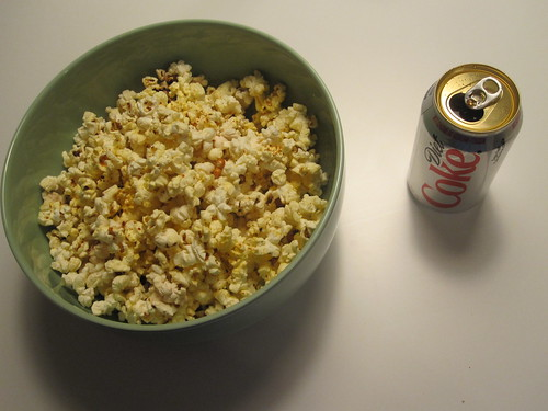 popcorn and Diet Coke
