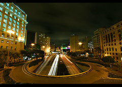 . shine pretty dark (Paula Maffei) Tags: city longexposure light urban brasil canon dark outside sopaulo capital 1022 viadutodoch urbannight praadabandeira