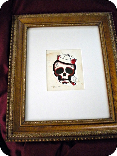 little Angelique print, matted and framed