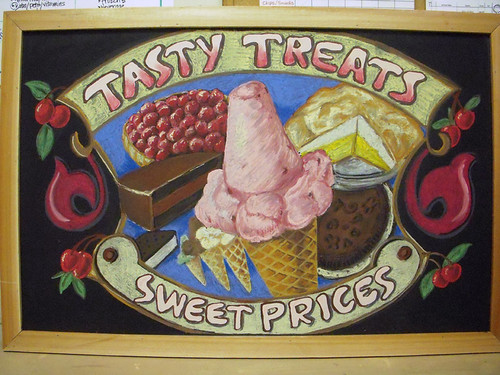 Trader Joe's Frozen Desserts Chalkboard Sign