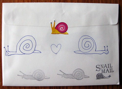 Look, I drew snails!