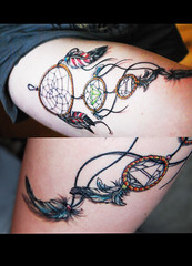 INK (Krysten_N) Tags: mars tattoo ink feathers diamond to seconds dreamcatcher triad echelon thirty