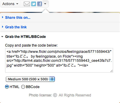 Flickr-Grab the HTML