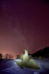 Milky Way at the Hoodoos (John Andersen (JPAndersen images)) Tags: longexposure canada lightpainting night stars andromeda drumheller alberta hoodoo geology iso1600 meteorite reddeerriver milkyway eastcoulee calgarynightphotographers