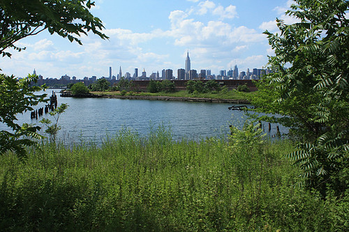 The actual Bushwick Inlet on the day of the groundbreaking of Bushwick Inlet Park (Courtesy Victoria Monjo).