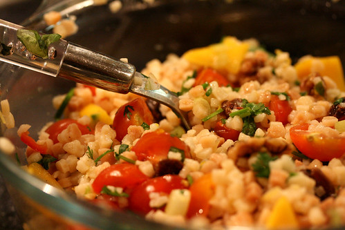Fregola with goodies