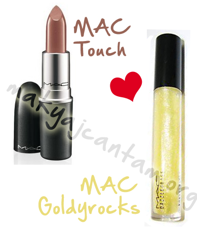mac goldyrocks dazzleglass touch lipstick swatch
