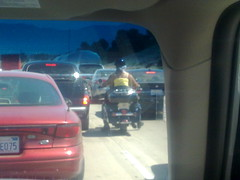Biker couple rides up Highway 101