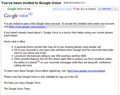 Google Voice Invite 1