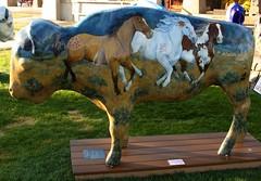 "Part of the ""Where the Painted Buffalo Roam"" exhibit, West Yellowstone, Montana (IMG_1569a) (Alaskan Dude) Tags: travel art buffalo montana wildlife westyellowstone paintedbuffalo wherethepaintedbuffaloroam"
