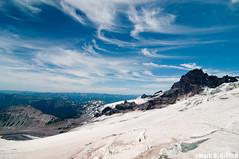 Paint the Sky (Mark Griffith) Tags: sky expedition clouds mountainclimbing adventure climbing rainier mountrainiernationalpark mountaineering mtrainier outing lightroom littletahoma emmonsroute mbgphotoframe