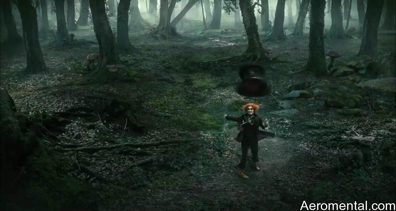 Alicia en el País de las Maravillas Sombrerero Loco bosque