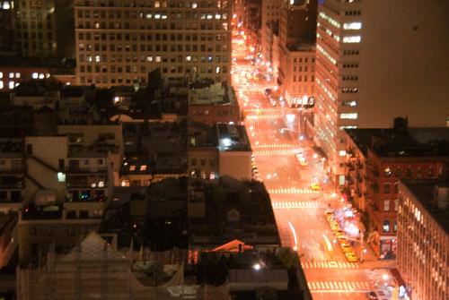 NYC nighttime skyline