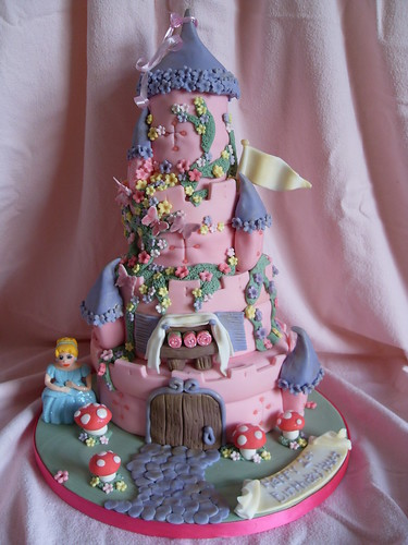 Honey's 1st Birthday Pink Castle Cake Derby
