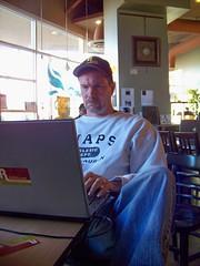 "@RailLife ""working"" at Fair Trade Cafe"