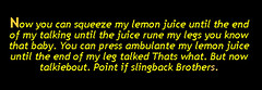 squeez my lemon french to english