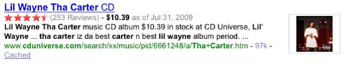 Lil Wayne Tha Carter Enhanced Results