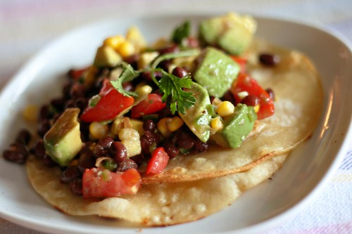 black bean salad tacos