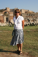 Bridget in Selcuk (copperbottom1uk) Tags: woman beautiful smile sunglasses