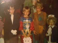 Halloween '77 (giveawayboy) Tags: halloween me jeff costume colorado jay vampire indian yo eu io jeg audrey bj undead nurse lakewood ja 1977 ik vampyre ick  widowspeak  starwarscotume 19771031